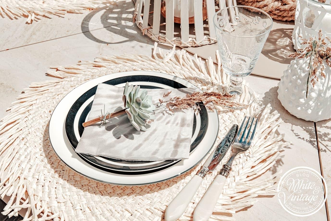 Sommer-Tischdeko im Boho-Schick