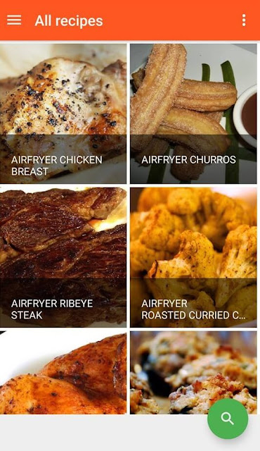 Easy Air Fryer recipes cooking app recipe list