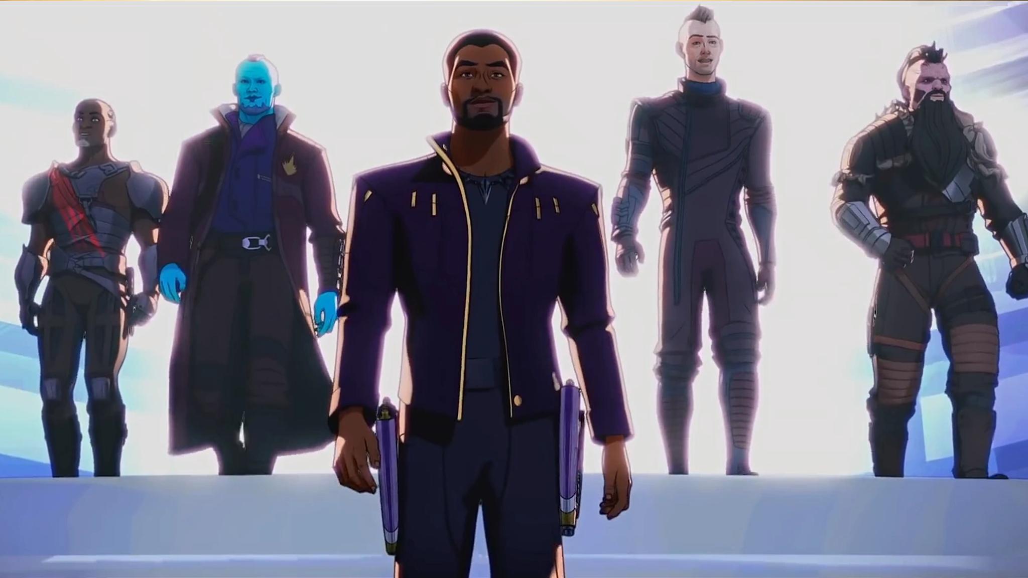 T'Challa convertido en Star-Lord en What If...?