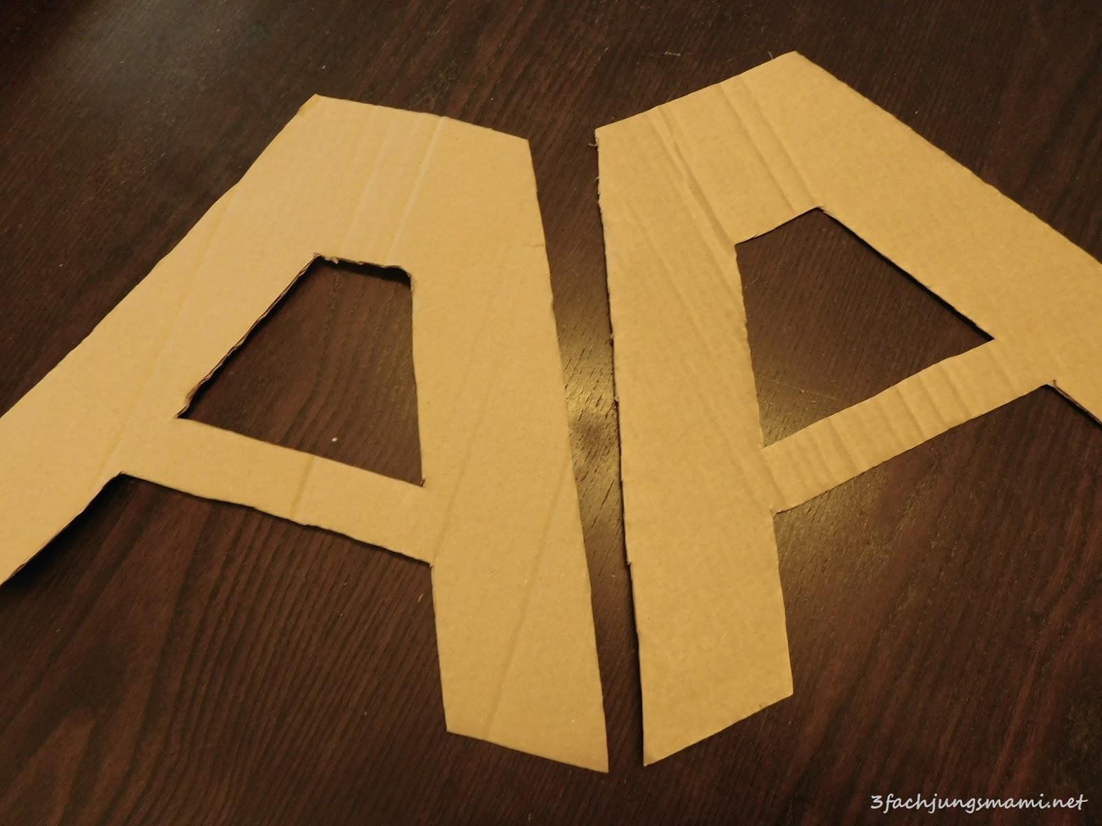 DIY Dekobuchstaben aus Karton - 3-fach Jungsmami
