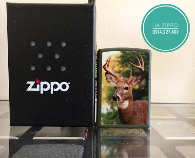 Zippo Hình Hươu Sơn Mài - MS1511 | Zippo độc | Zippo cổ