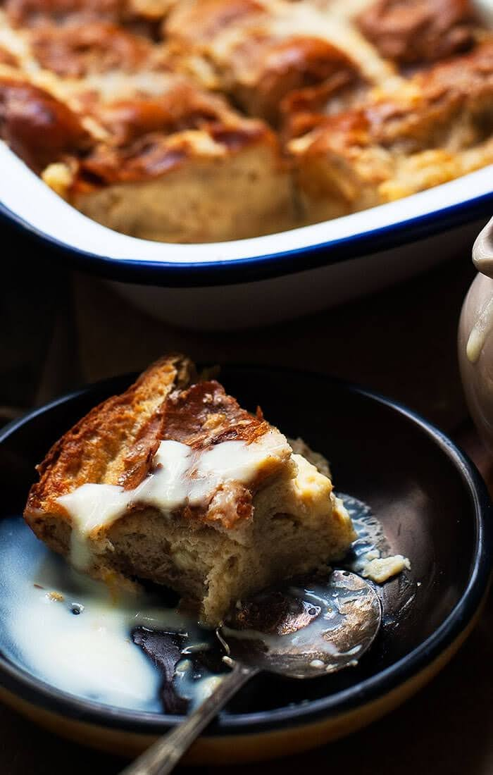 Hot Cross Buns Bread and Butter Pudding