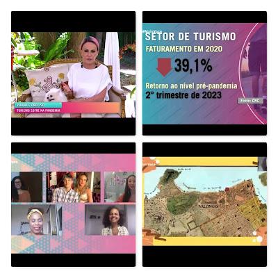 Programa Mais Você da Rede Globo falando sobre tours virtuais