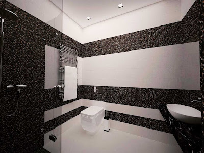 Shower room for black and white bathroom idea