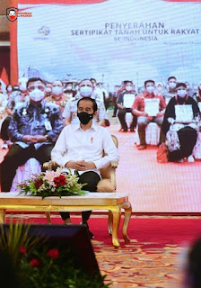 Presiden Jokowi Serahkan Sejuta Sertipikat Tanah untuk Rakyat Indonesia Secara Virtual