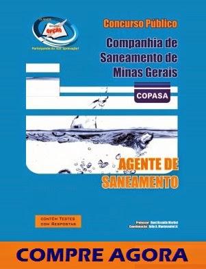 APOSTILA COPANO MG CARGO AGENTE DE SANEAMENTO 2014