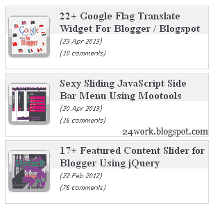 Stylish Scrolling Recent Posts widget