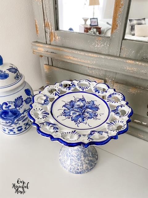 Portugal lattice edge plate blue white