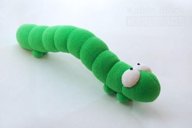 Master class e padrão. Como costurar uma lagarta? Worm?