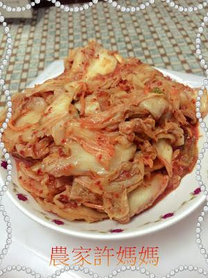 健康韓國素食泡菜-農家許媽媽韓國泡菜