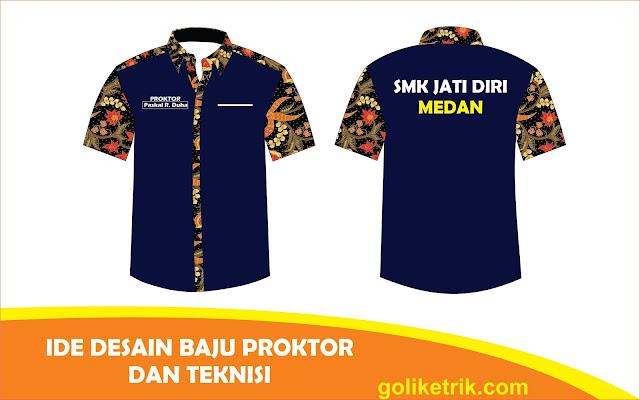 Desain Baju Seragam Proktor Dan Teknisi UNBK CDR - Goliketrik