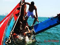 Kapal KM 3 Putera Sentosa asal Pulau Sailus Tenggelam Usai Dihantam Kapal Lainnya
