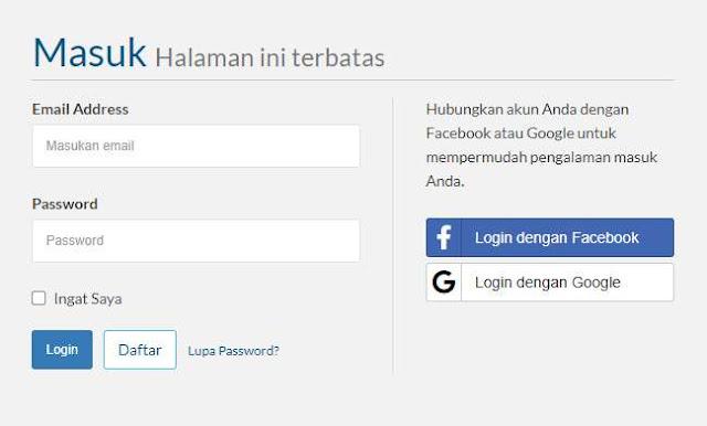 Halaman Login Exabytes Indonesia