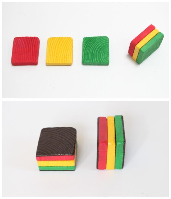 diy Italian rainbow cakes