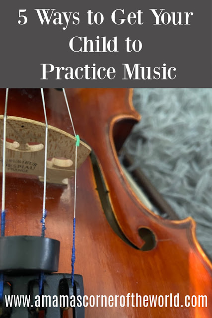 Pinnable image for ways to get your child to practice music with violin