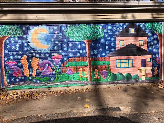 Home sweet home with a night sky! Mural by Teresa Parod.