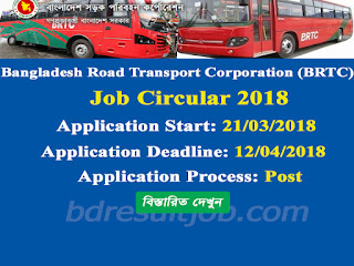 Bangladesh Road Transport Corporation (BRTC) Job Circular 2018