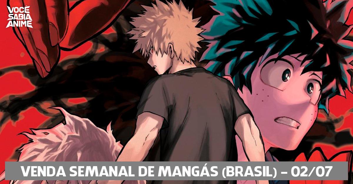 Ranking semanal de vendas de mangás no Brasil - 02-07