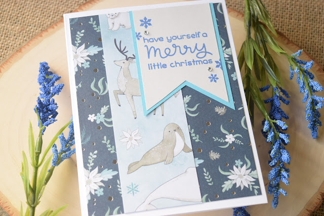 Christmas Card with Recollections Winter Dream by Jess Crafts