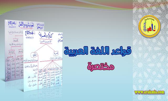 قواعد اللغة العربية ملخصة بشكل سهل وجميل
