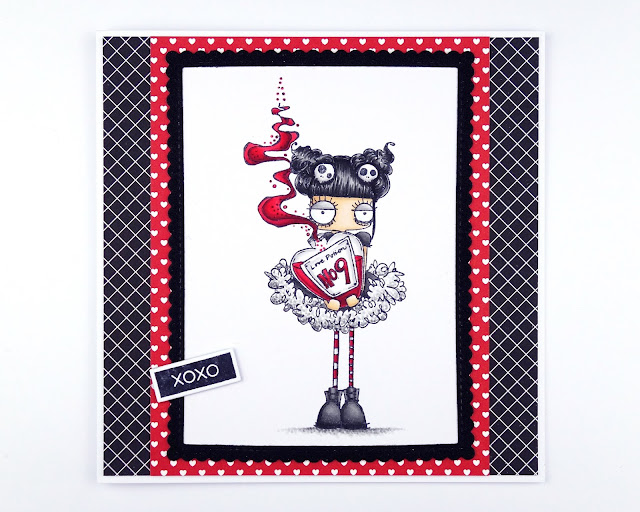 Handmade Valentine's Day card using Love Potion Oddball by Stamping Bella