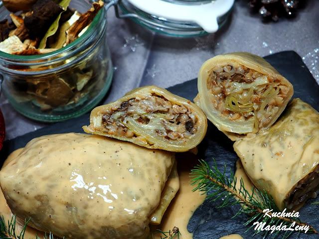 Gołąbki wigilijne z kaszy i ziemniaków