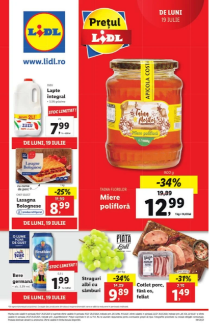 LIDL Catalog - Brosura  19-25.07 2021→ Atractia Saptamanii | LidlPlus - Aktiveaza Cupoanele