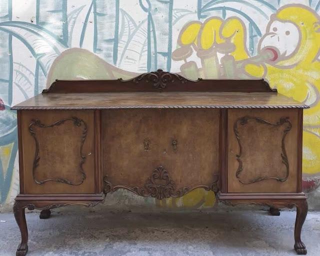 """Αφιέρωμα: Μπουφές! Αρκούδα καφέ ... """"τρέχα και βάψε"""" τον ξύλινο μπουφέ 17 Annie Sloan Greece"""