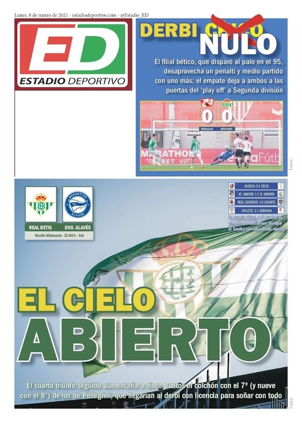 """Betis, Estadio Deportivo: """"El cielo abierto"""""""