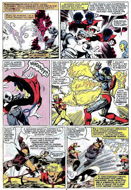 X-men v1 #142 marvel comic book page art by John Byrne