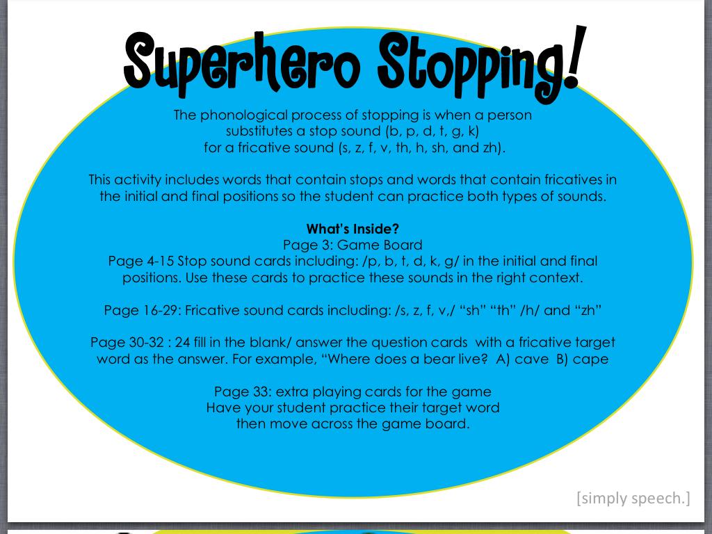 Superhero Stopping! | Simply Speech