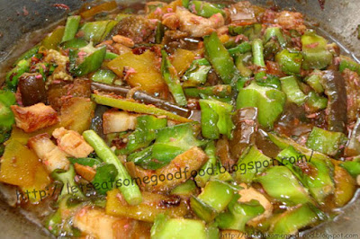 Pakbet+ala+Ana - Pakbet Recipe (Pinakbet or Shrimp Paste Vegetable Stew)