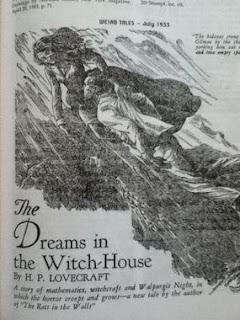 Photo de la 1ère publication de Lovecraft dans Weird Tales en 1933