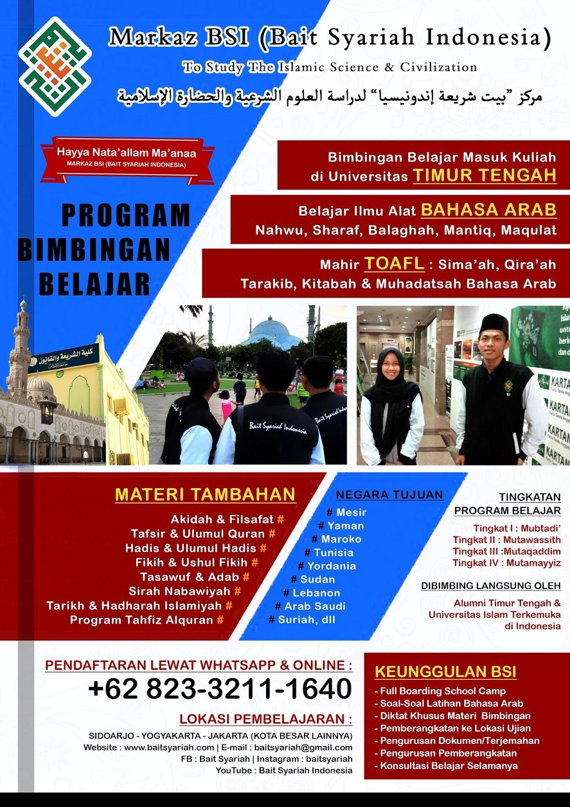Bimbingan Belajar Kuliah ke Timur Tengah