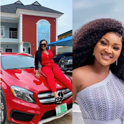 Actress Mercy Aigbe Buy Herself A New Mercedes Benz
