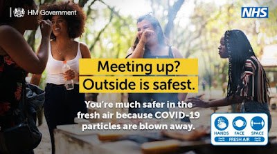 Meeting up outside is safest UK Government message