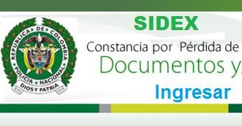 Denuncar la pérdida de documentos en Sidex