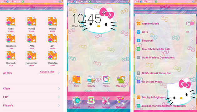 Oppo Theme: Hello Kitty Hologram Theme