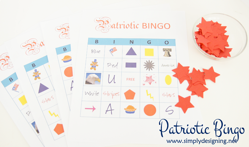Patriotic Bingo Free Printable - pin for later |  #CMSalutingHeroes #CollectiveBias #shop #4thofjuly #bingo #game #freeprintable