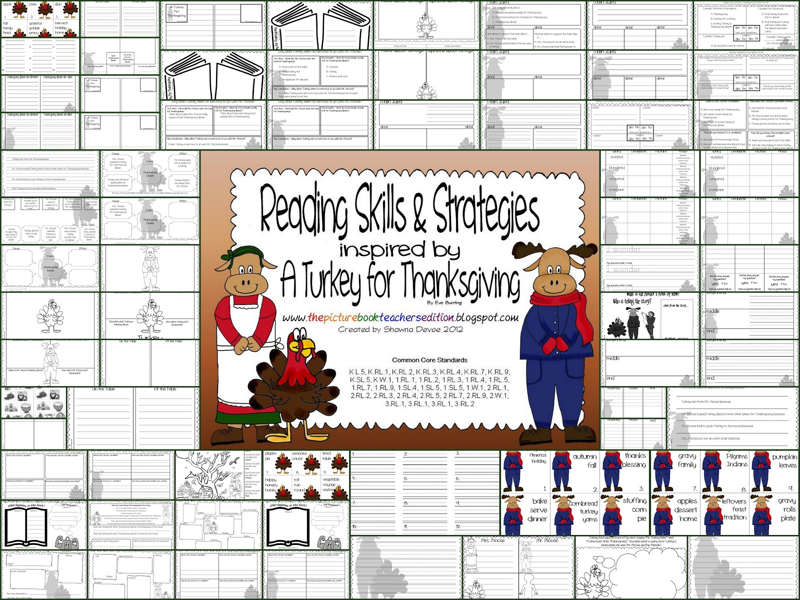 The Picture Book Teacher S Edition A Turkey For Thanksgiving By Eve Bunting