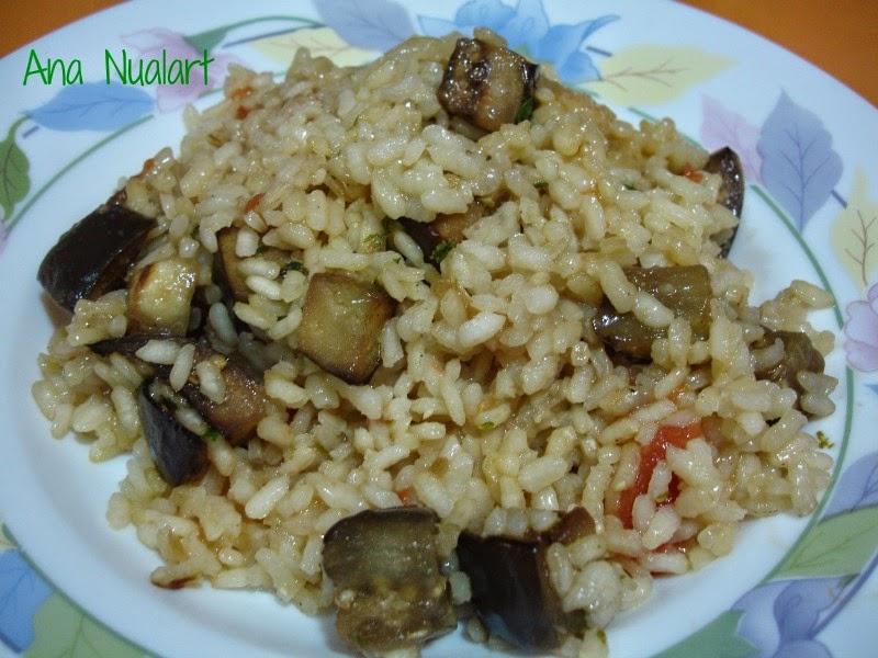 Delicioso arroz estilo griego, sin utilizar carne