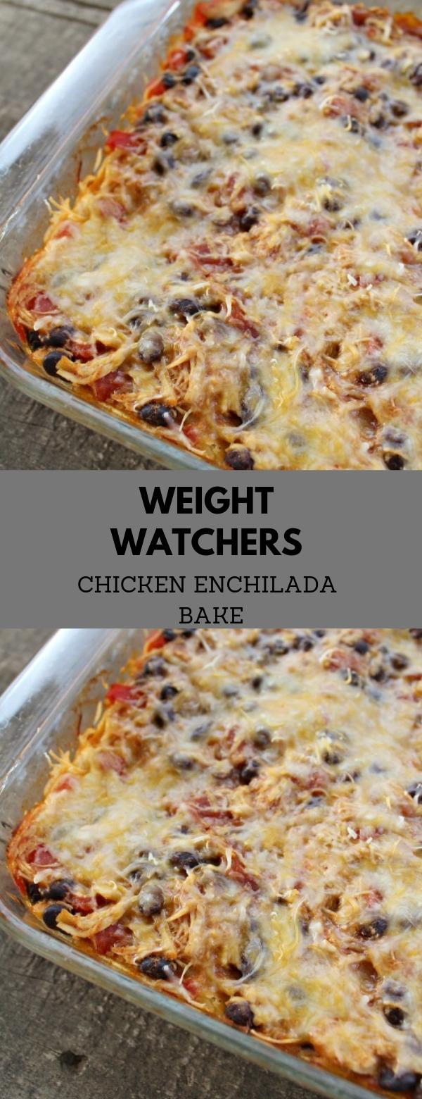 Weight Watchers Chicken Enchilada Bake #CASSEROLE #WEIGHTWATCHERS #CHICKEN