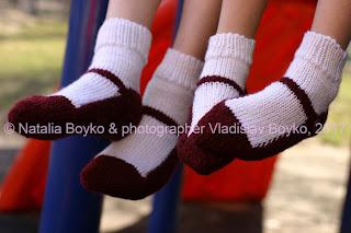 Носочки-туфельки