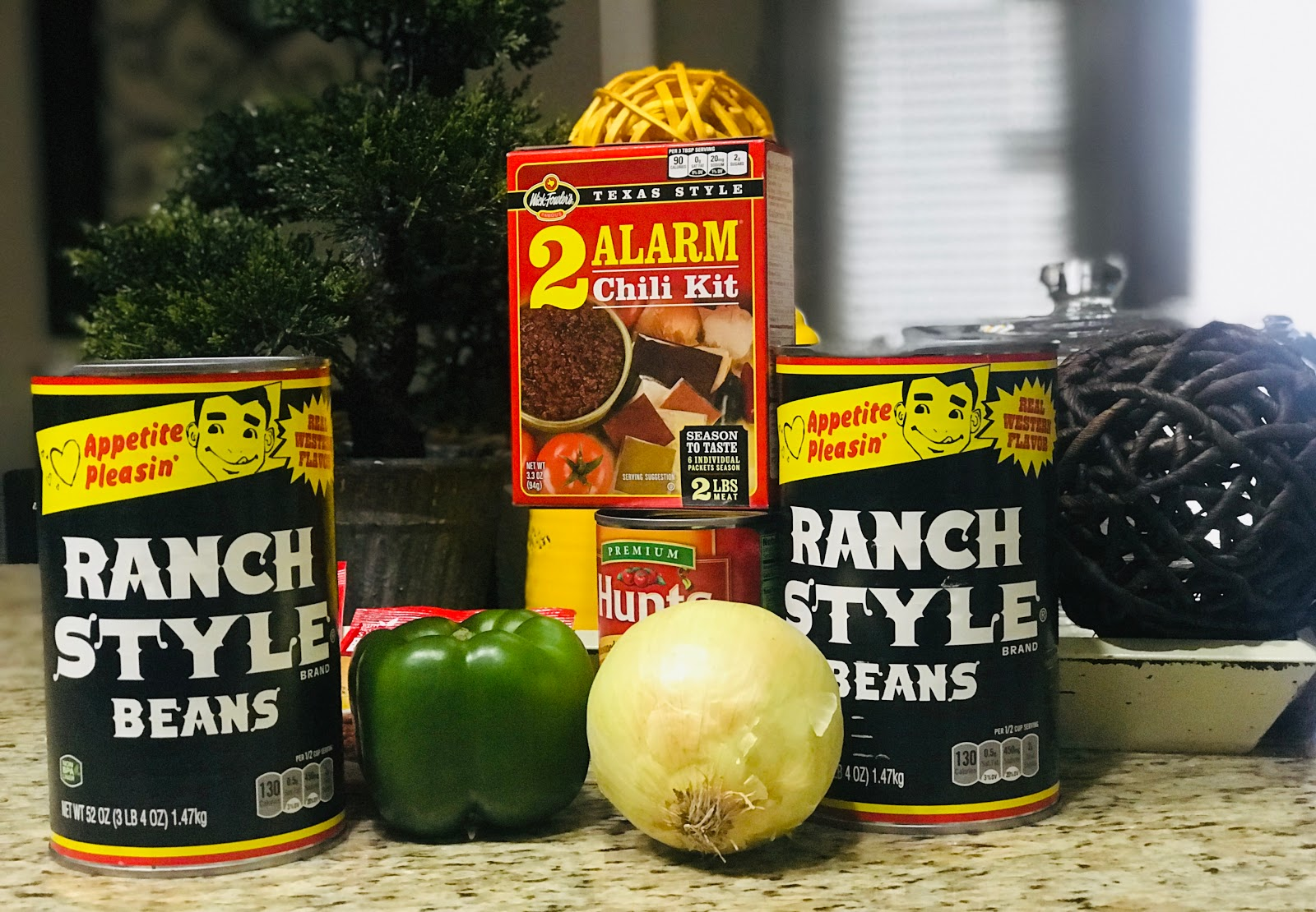 Image:My Country Uncle Willie Chili With A Twist. Items used is Ranch style beans, two alarm chili,bell peppers , onions. Not sponsored at all. Seen first on Bits and babbles Blog