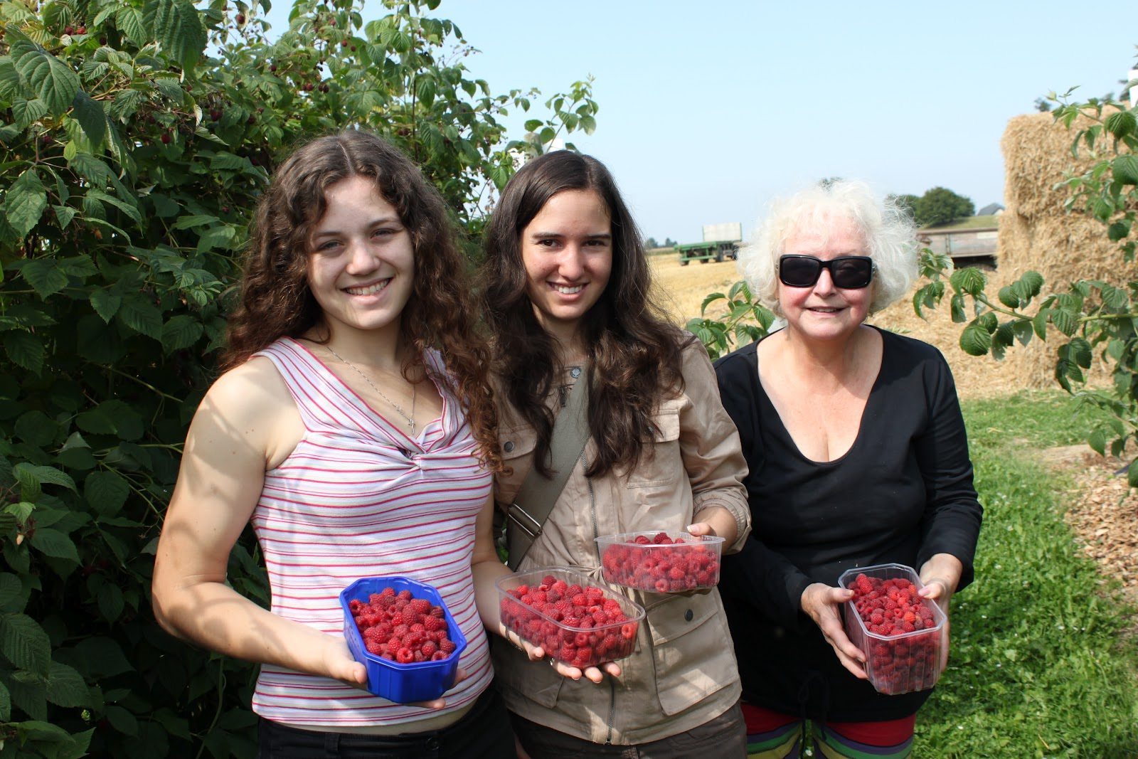 Speaking Of Facing Fears We Also Went Berry Picking Where Isabella Bravely Fought Through Swarms Of Raspberry Loving Bees To Secure The Best Fruit For Our