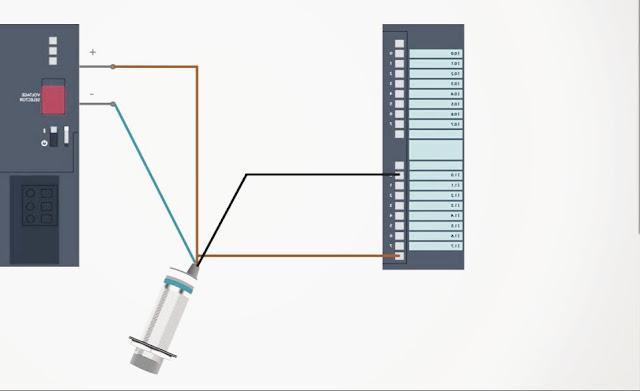 como conectar un sensor a un plc