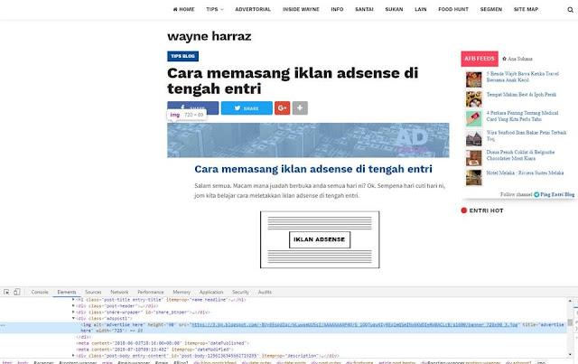 Gantikan kotak iklan format JPEG kepada iklan Google Adsense