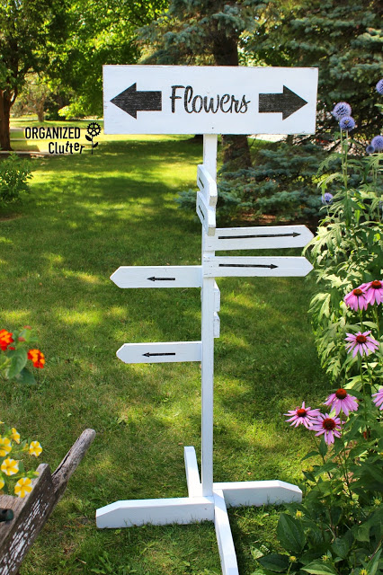 Directional Flowers Everywhere Sign