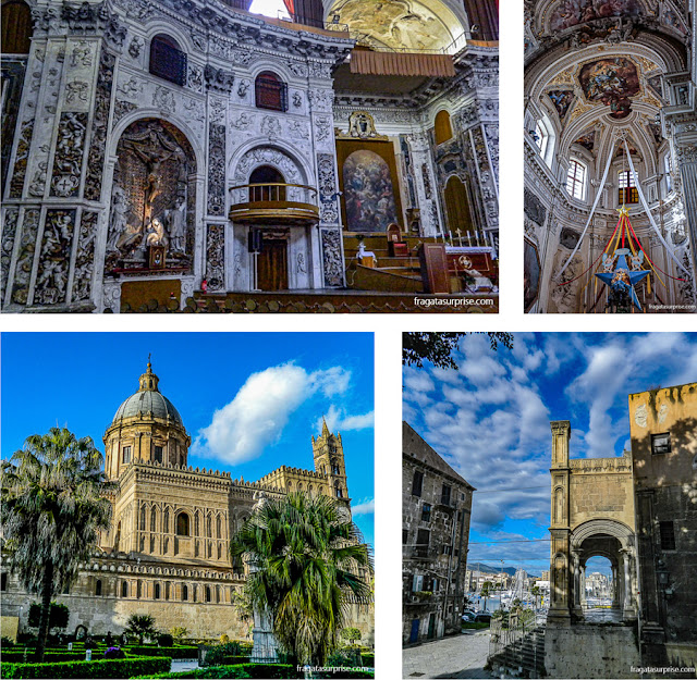Igrejas de Palermo: Santissimo Salvatore, Santa Maria della Pietà, Santa Maria della Catena e a Catedral de Palermo