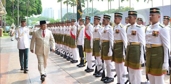 Kunjungi Malaysia, Menhan Prabowo Ingin Ada Pertukaran Perwira
